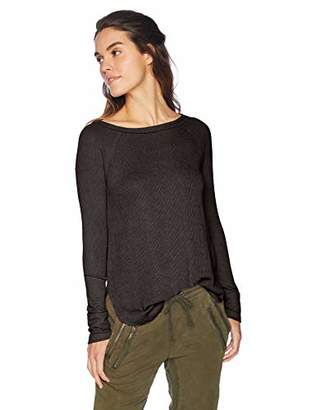Lucky Brand Women's Rib Mix Thermal TOP