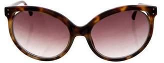 Linda Farrow Oversize Cat-Eye Sungalsses