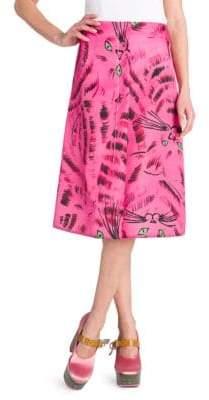 Marni A-Line Cat Print A-Line Skirt