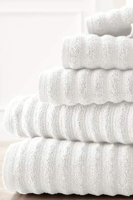 Amrapur Luxury Spa Collection Wavy Quick Dry 6-Piece Towel Set - White