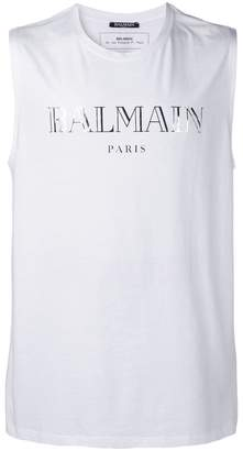 Balmain logo printed muscle T-shirt
