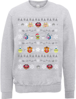 cd03e92756 at Zavvi · Disney The Muppets Muppets Christmas Heads Grey Christmas  Sweatshirt