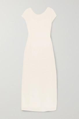 The Row Prado Plisse-georgette Maxi Dress - Ivory
