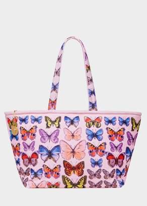 Versace Butterfly Print Beach Tote Bag