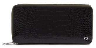 Rag & Bone Croc Embossed Zip-Around Leather Wallet