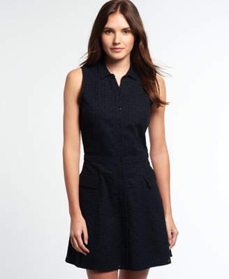 Superdry Broderie Utility Shirt Dress