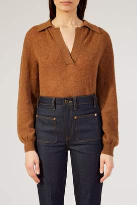 Khaite The Jo Sweater In Toffee