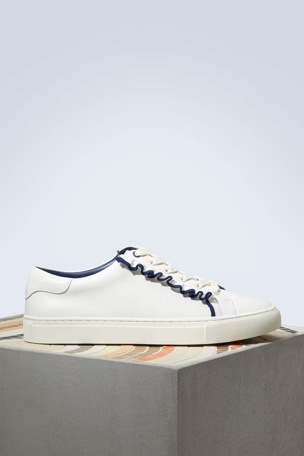 Tory Burch Leather sneakers with ruffles