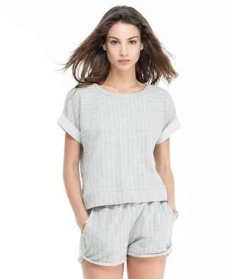Todd Snyder + Champion: Womens Women's Short Sleeve Striped Sweatshirt