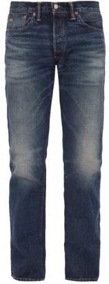 Rrl - Straight Leg Washed Denim Jeans - Mens - Blue