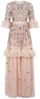 Needle & Thread Dusk Floral Embroidered Gown
