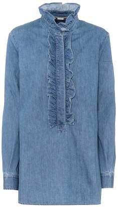 Stella McCartney Ruffled denim shirt