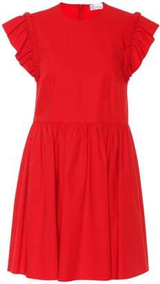 RED Valentino Ruffled cotton poplin dress