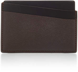 Smythson Grosvenor Two-Tone Textured-Leather Cardholder