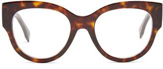 Fendi Cat-eye tortoiseshell acetate glasses