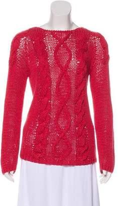 Brunello Cucinelli Round Neck Cable Knit Sweater