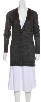 L'Agence Longline Button-Up Cardigan Black Longline Button-Up Cardigan