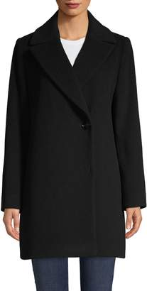Cinzia Rocca Long-Sleeve Wool-Blend Coat