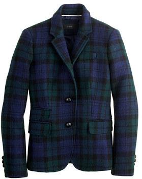 Ludlow Schoolboy blazer in Black Watch plaid