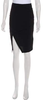Helmut Lang Knot-Accented Knee-Length Skirt