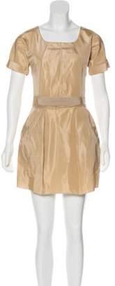 Dolce & Gabbana Short Sleeve Mini Dress Tan Short Sleeve Mini Dress