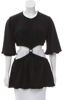 Ellery Cutout-Accented Knit Top w/ Tags