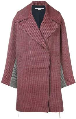 Stella McCartney houndstooth oversized coat