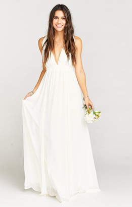 Show Me Your Mumu Ava Maxi Dress ~ Wedding Cake Chiffon