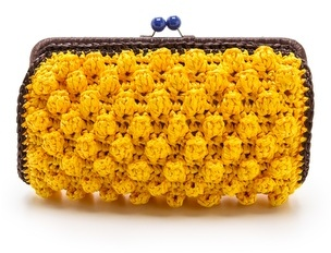 M Missoni Solid Rafia Clutch