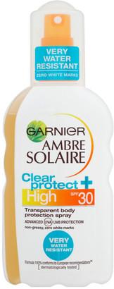 Ambre Solaire Garnier Clear Protect Sun Cream Spray SPF 30 200ml