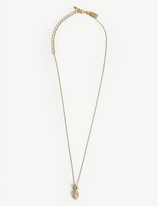 Kate Spade Gold-plated pineapple mini pendant