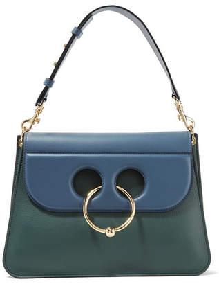 J.W.Anderson Pierce Medium Two-tone Leather Shoulder Bag - Petrol