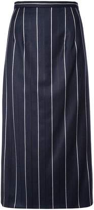 Oscar de la Renta striped midi skirt