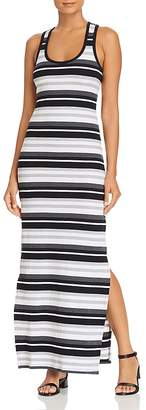Andrew Marc Performance Striped Racerback Maxi Dress