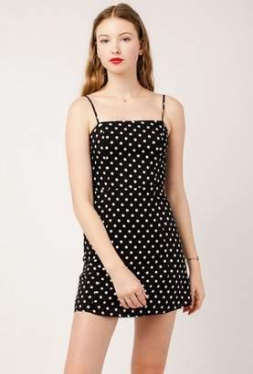 Azalea Polka Dot Straight Neck Dress