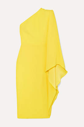 Alex Perry Finley One-sleeve Crepe Dress - Yellow