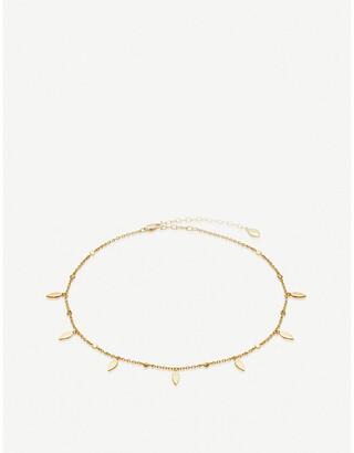 Missoma Ltd Gold Leaf 18ct gold-vermeil choker necklace