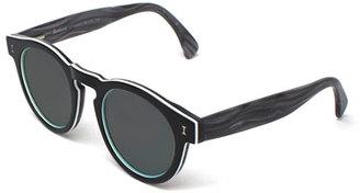 Illesteva Leonard Streaked Sunglasses, Tuxedo $177 thestylecure.com