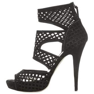 Miu Miu Black Suede Sandals