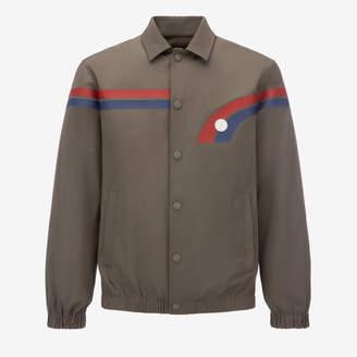 Bally Cotton Canvas Blouson Jacket Grey, Men's cotton canvas jacket in snuff