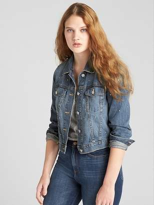 Gap Crop Icon Studded Denim Jacket