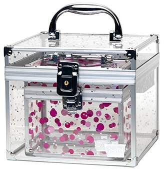 Prima Donna Caboodles Medium Case with Holographic Stars and Pink Dots Bonus Case