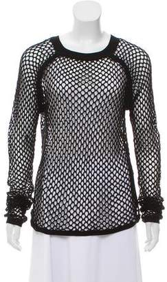 Tess Giberson Open Knit Long Sleeve Top