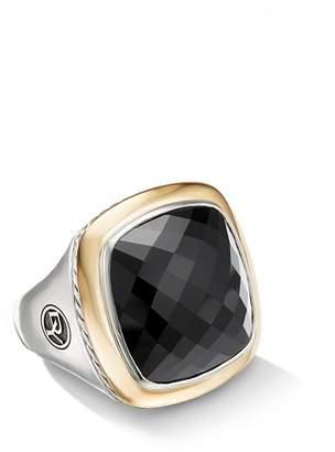 David Yurman Albion Statement Ring with 18K Yellow Gold & Black Onyx