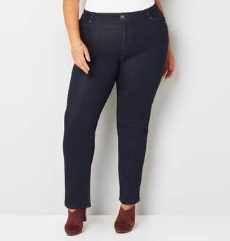 Avenue Plus Size 1432 Straight Leg Jean In Rinse