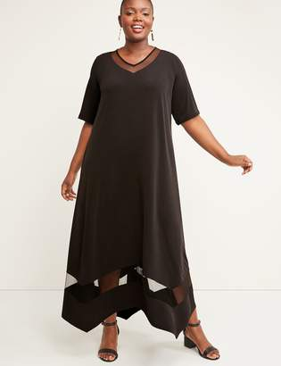 Lane Bryant Mesh Inset Maxi Dress