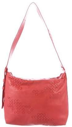 Bottega Veneta Intrecciato-Trimmed Shoulder Bag