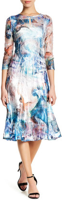 KOMAROV Keyhole Midi Dress (Petite) $258 thestylecure.com