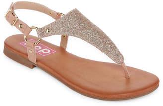 POP Womens Adreana Adjustable Strap Flat Sandals