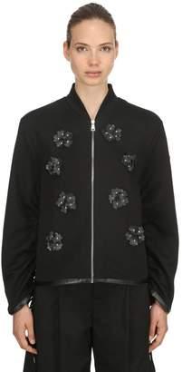 Moncler 6 Noir Zip-Up Sweatshirt